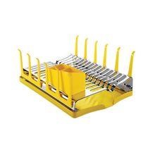 Escorredor de Louças Inox com Bandeja Plurale Amarelo Tramontina 61535080