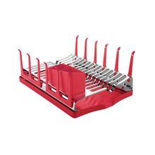 Escorredor de Louças Inox com Bandeja Plurale Vermelho Tramontina 61535060