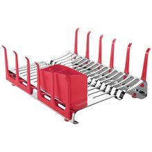 Escorredor de Louças Inox Plurale Vermelho Tramontina 61535560
