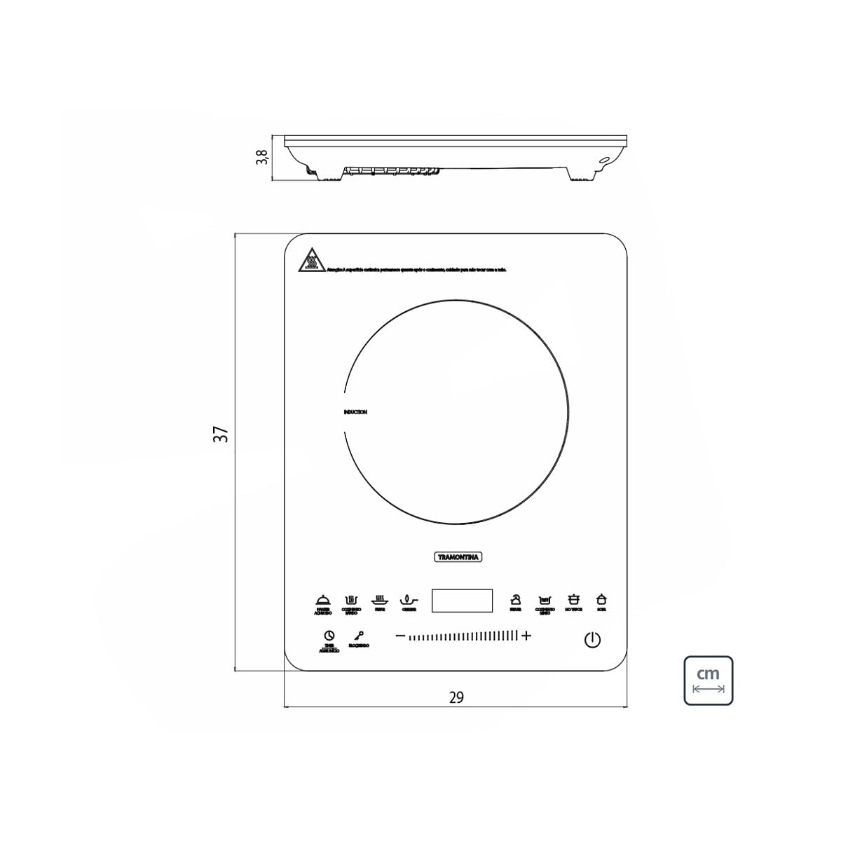 Cooktop Portátil por Indução Tramontina Slim Touch 220 V 94714132 | Marin  Brasil Tramontina